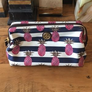 Brand New Tory Burch pineapple cosmetic case